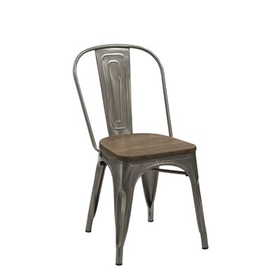 Sheree Solid Wood Dining Chair Finish: Steel