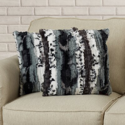 Infant Zebra Print Faux Fur Throw Pillow