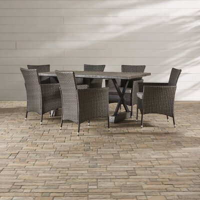 Demetria 7 Piece Dining Set with Cushions