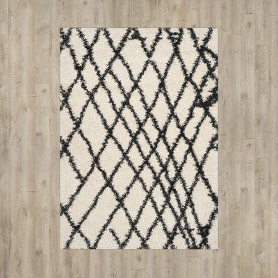 Malibu Ivory / Charcoal Area Rug Rug Size: 3 x 5