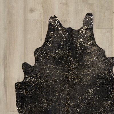 Lincoln Handmade Black Area Rug