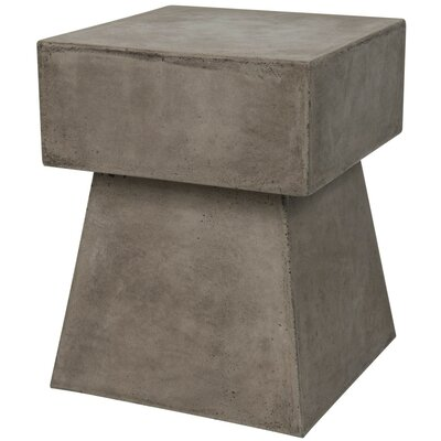 Cezanne End Table Color: Dark Gray