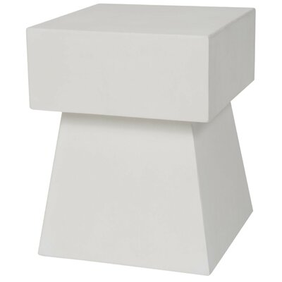 Cezanne End Table Color: Ivory