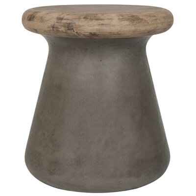 Delwood End Table Color: Dark Gray