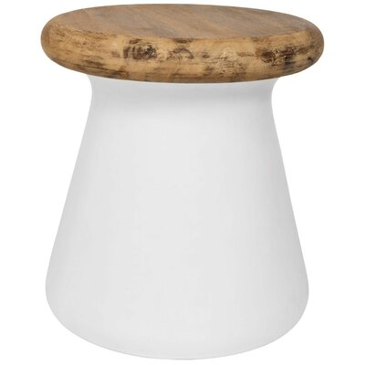 Delwood End Table Color: Ivory