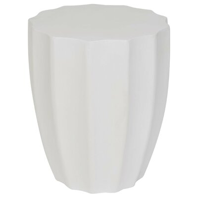 Coulver End Table Color: Ivory