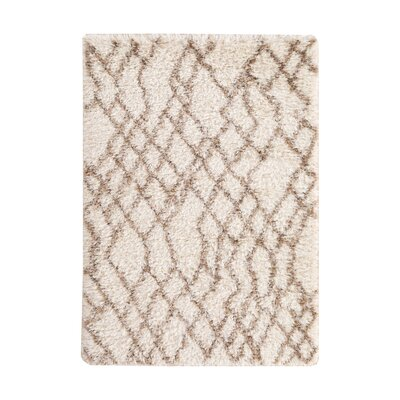 Camberry Hand-Woven Beige & Brown Area Rug Rug Size: 5 x 8
