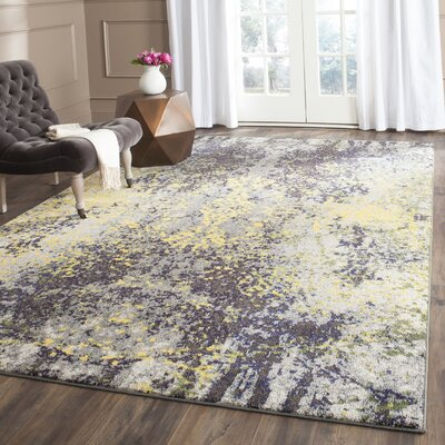 Cabinwood Gray Area Rug Rug Size: 51 x 77