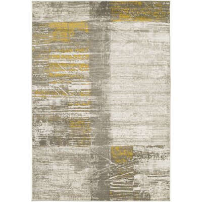 Chartwell Light Gray/Gold Area Rug Rug Size: Rectangle 76 x 106