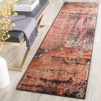 Cabinwood Orange Area Rug Rug Size: Runner 22 x 12