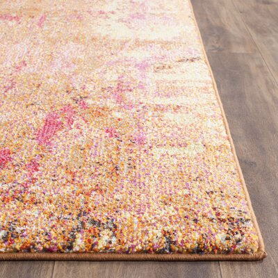 Cabinwood Orange Area Rug Rug Size: 8 x 11