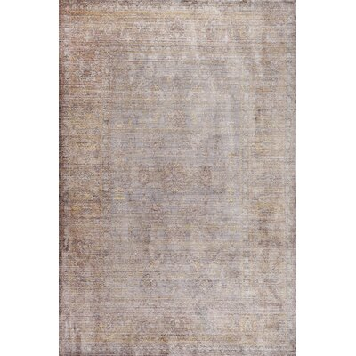 Deeringhill Gray Area Rug Rug Size: 5 x 8