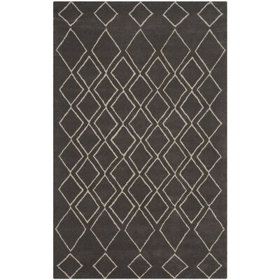 Cherico Hand-Tufted Ivory/Dark Gray Area Rug Rug Size: Rectangle 36 x 56