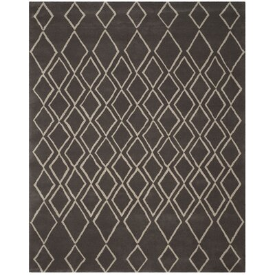 Cherico Hand-Tufted Ivory/Dark Gray Area Rug Rug Size: Rectangle 76 x 96