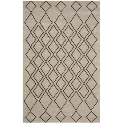 Cherico Hand-Tufted Light Gray/Dark Gray Area Rug Rug Size: 36 x 56
