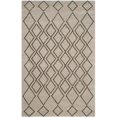 Cherico Hand-Tufted Light Gray/Dark Gray Area Rug Rug Size: 5 x 8