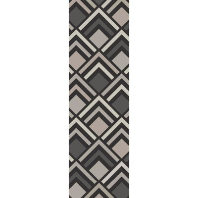 Harvey Hand-Tufted Charcoal/ Gray Area Rug Rug Size: Runner 26 x 8