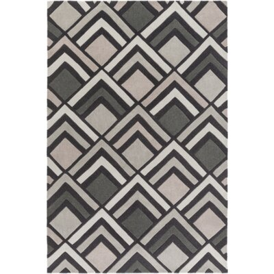 Harvey Hand-Tufted Charcoal/ Gray Area Rug Rug Size: 5 x 8