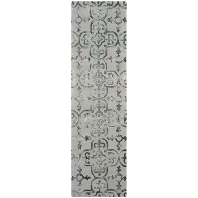 Kinder Hand-Tufted Gray/Charcoal Area Rug Rug Size: Runner 23 x 8