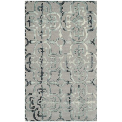 Kinder Hand-Tufted Gray/Charcoal Area Rug Rug Size: 3 x 5