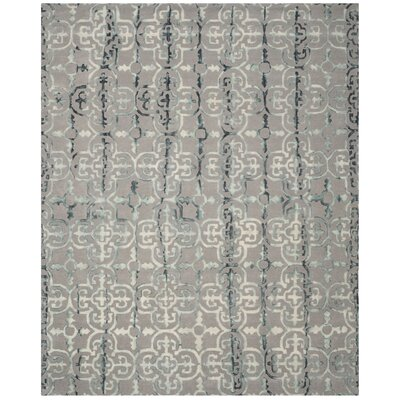 Kinder Hand-Tufted Gray/Charcoal Area Rug Rug Size: 8 x 10