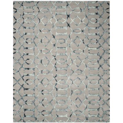 Kinder Hand-Tufted Gray/Charcoal Wool Area Rug Rug Size: Rectangle 8 x 10