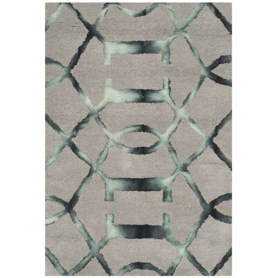 Kinder Hand-Tufted Gray/Charcoal Wool Area Rug Rug Size: 2 x 3