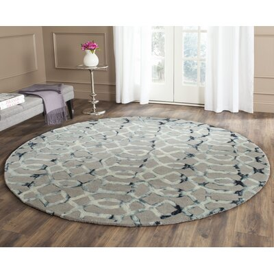 Kinder Hand-Tufted Gray/Charcoal Wool Area Rug Rug Size: Round 7