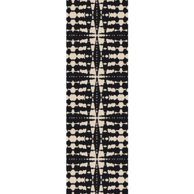 Vesey Hand-Tufted Black/Light Gray Area Rug Rug Size: Runner 26 x 8