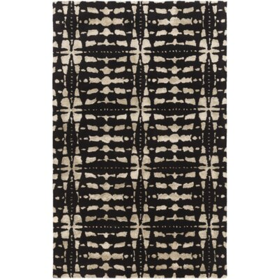 Vesey Hand-Tufted Black/Light Gray Area Rug Rug Size: Rectangle 5 x 76
