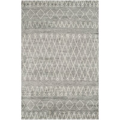 Coolbrook Hand-Knotted Gray/Beige Area Rug Rug Size: 5 x 8