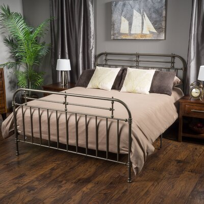 Willow Queen Panel Bed Color: Champagne