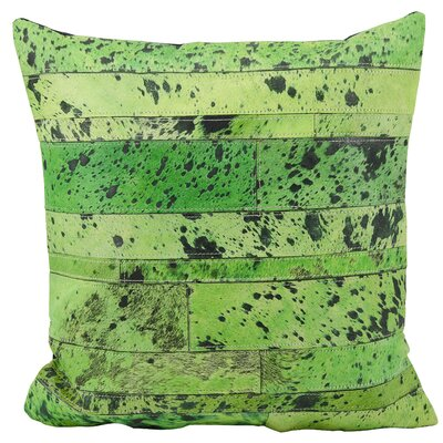 Bergan Natural Leather Hide Throw Pillow Color: Apple Green