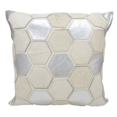 Shonnard Natural Leather Hide Throw Pillow