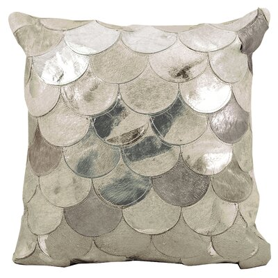 Rollinsford Leather Throw Pillow Color: Silver/Gray