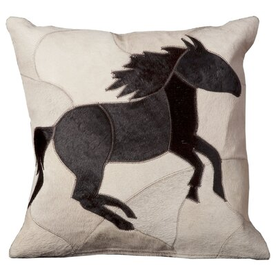Chadwyck Natural Leather Hide Throw Pillow