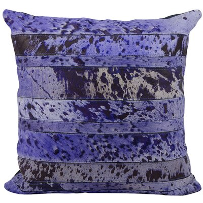 Cozette Natural Leather Hide Throw Pillow Color: Purple