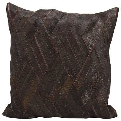 Cougar Cove Leather Throw Pillow Color: Brown