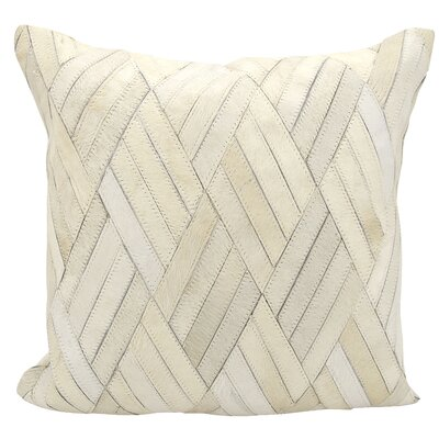 Cougar Cove Leather Throw Pillow Color: White