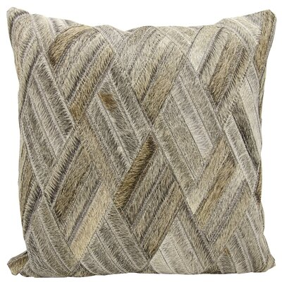 Cougar Cove Leather Throw Pillow Color: Gray