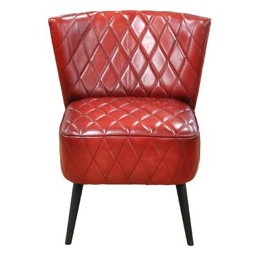 Delvin Parsons Chair Upholstery: Red