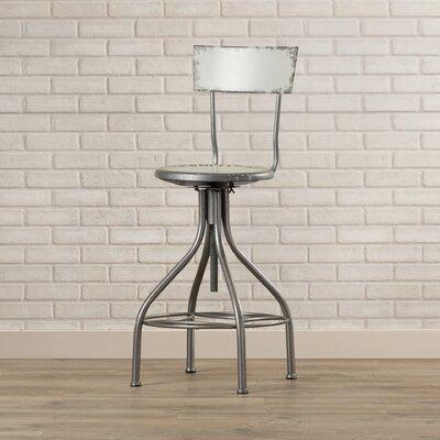 Lomita Adjustable Height Swivel Bar Stool Upholstery: Gray