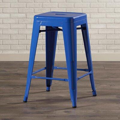 Delavan 24 Bar Stool Finish: Blue