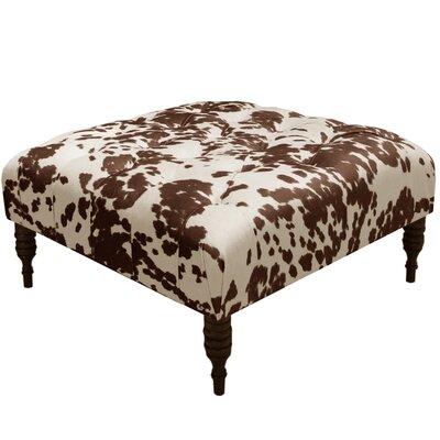 Kenneth Tufted Cocktail Ottoman Color: Milk