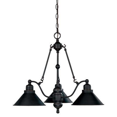 Schaff 3-Light Shaded Chandelier