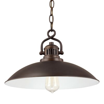 Meridian 1-Light Mini Pendant Size: 10 H x 15 W