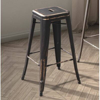 East Palo Alto 25 Bar Stool Frame Finish: Antique Black Gold