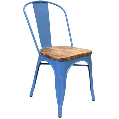 Hugo Dining Chair Color: Blue