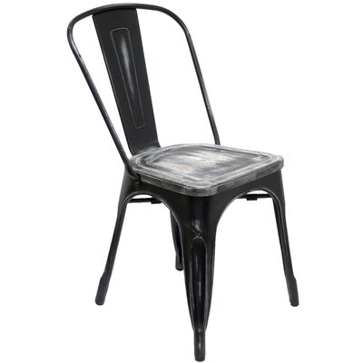 Hugo Side Chair Color: Antique Black
