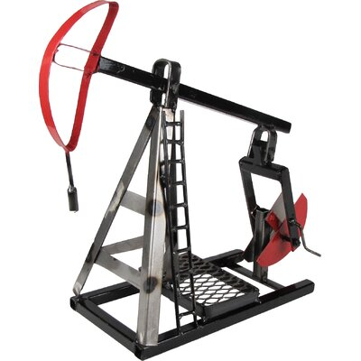 Oil Pump Jack Table Sculpture Finish: Natural Steel Lacquered
